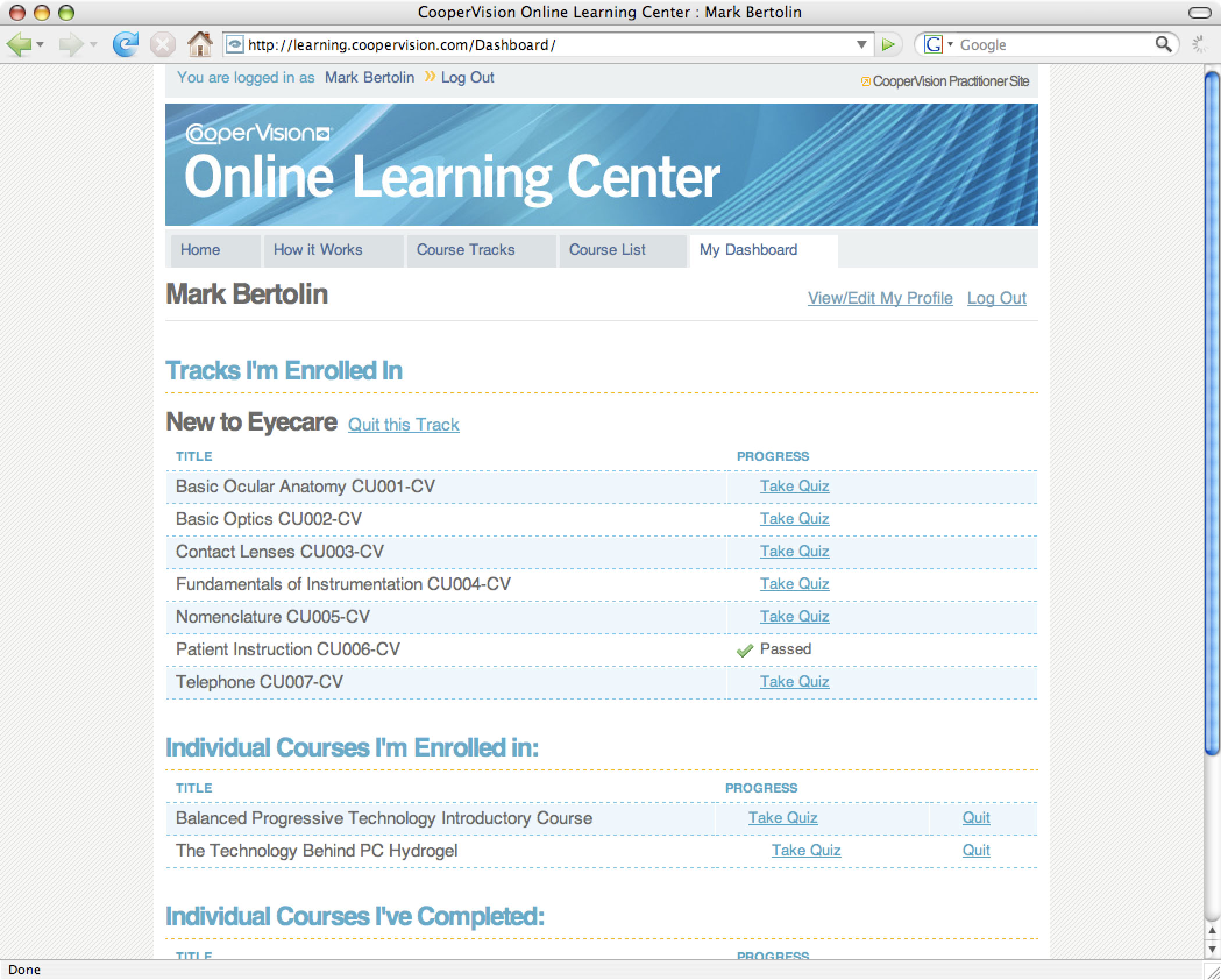 CooperVision Online Learning Center