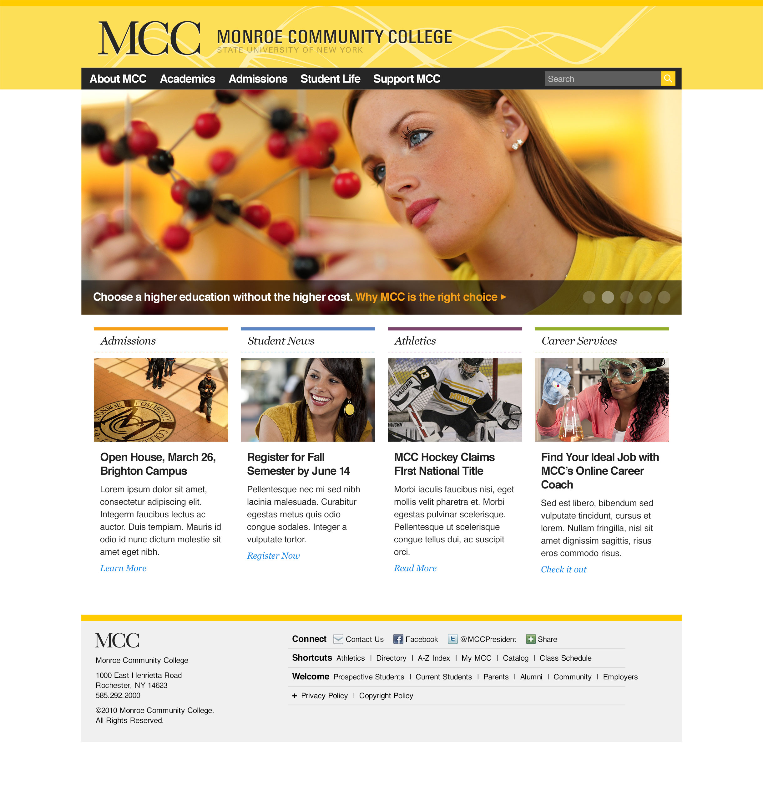 College Site UI Design