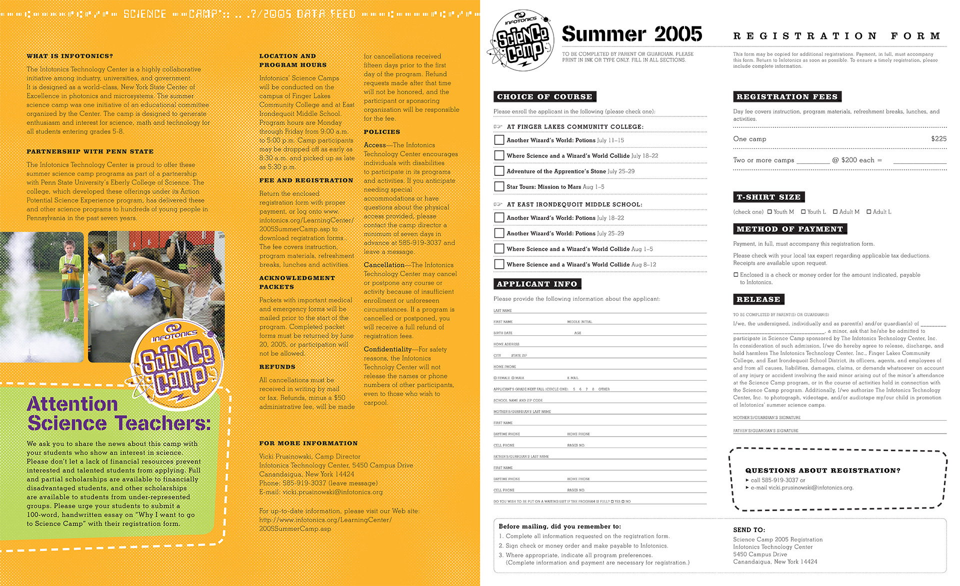 Science Camp Brochure