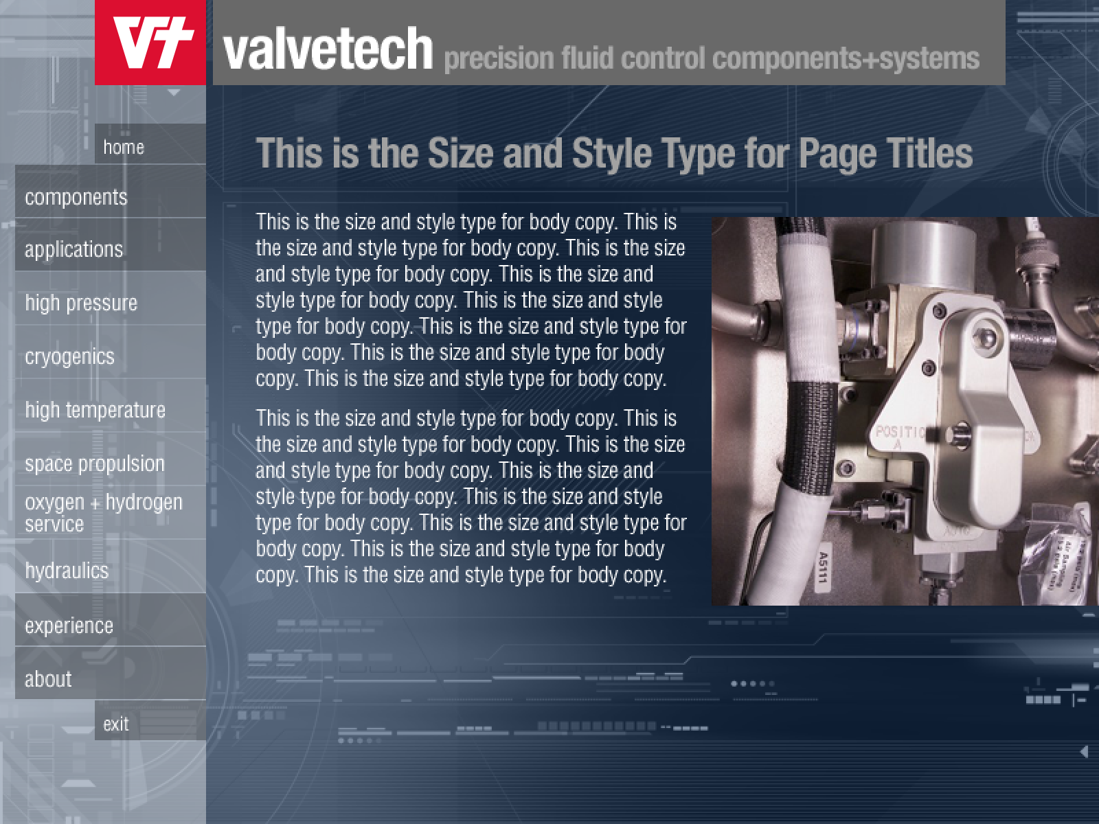 Valvetech Interface